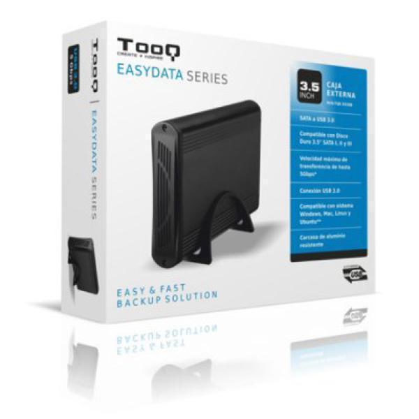 Ekstern Boks TooQ TQE-3526B HD 3.5'''' SATA III USB 3.0 Sort