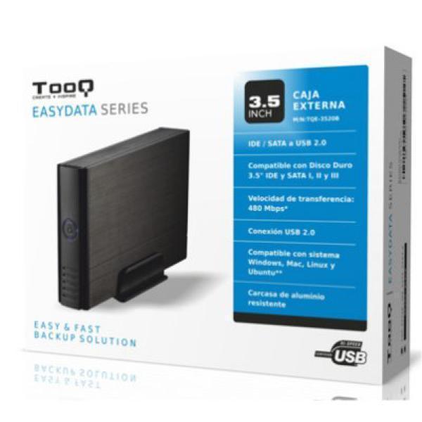 Ekstern Boks TooQ TQE-3520B HD 3.5'''' IDE / SATA III USB 2.0 Sort