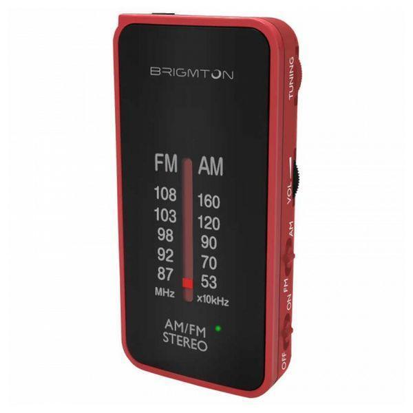 Transistorradio BRIGMTON BT224 Rød