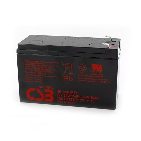 SAI batteri Salicru HR1234w 9 Ah 12 V Sort