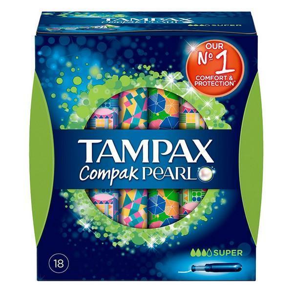 Super tamponer Pearl Compak Tampax (18 uds)