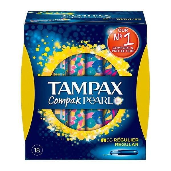Almindelig tamponer Pearl Compak Tampax (18 uds)