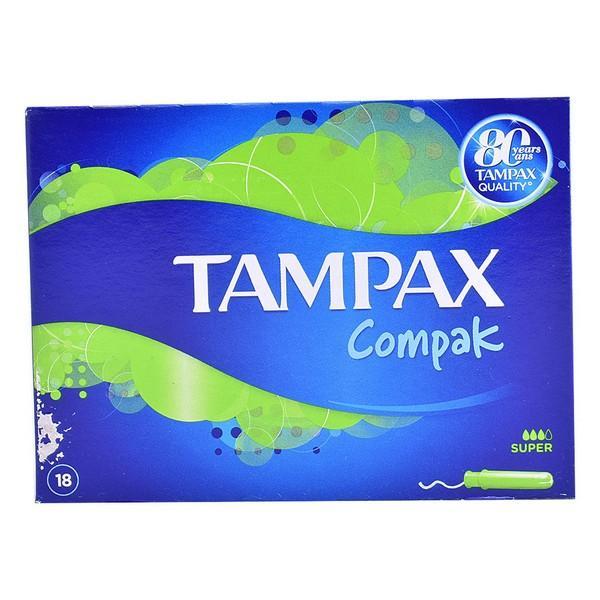 Super tamponer Compak Tampax (18 uds)