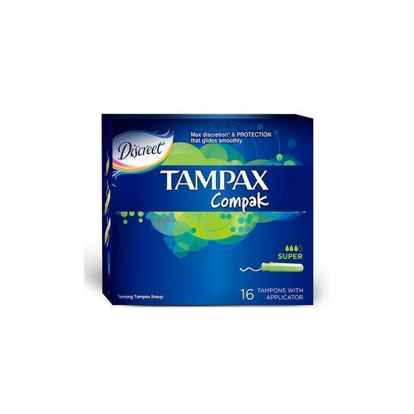 Super Tampon Compak Tampax (16 uds)