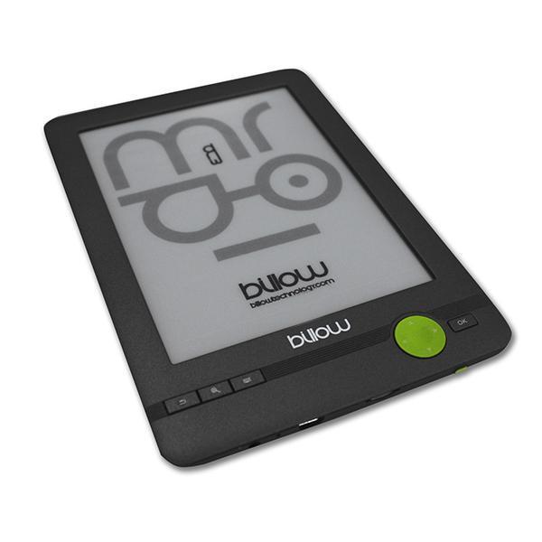 E-bog Billow E03FLC E-Ink 6'''' Front light 800 x 600 1 x USB 2.0 Micro SD/Mini USB