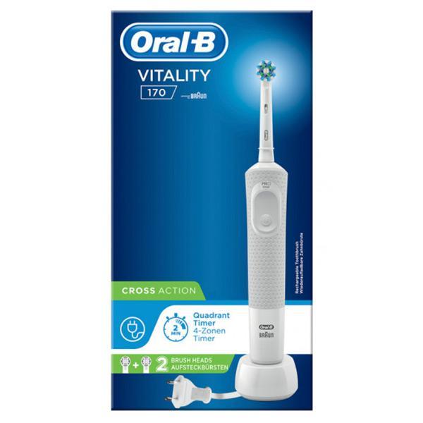 Elektrisk tandbørste Oral-B Vitality 170 Cross Action Hvid