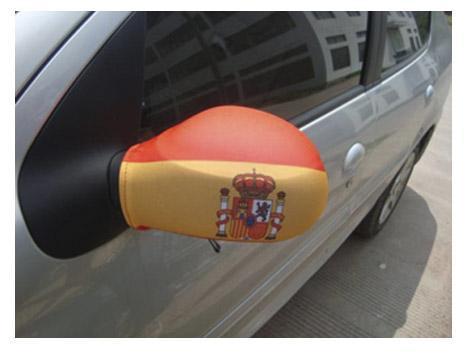 Sidespejlscover med Spansk Flag (2stk)