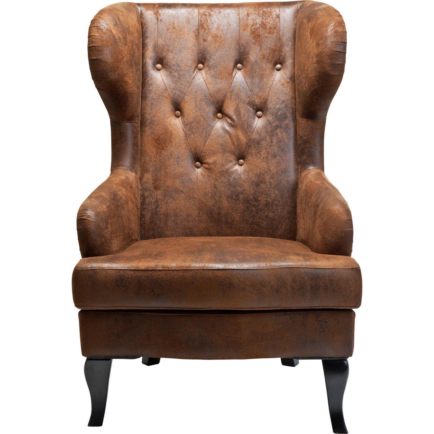 KARE DESIGN Vintage hvilestol - brunt kunstlder, m. armln