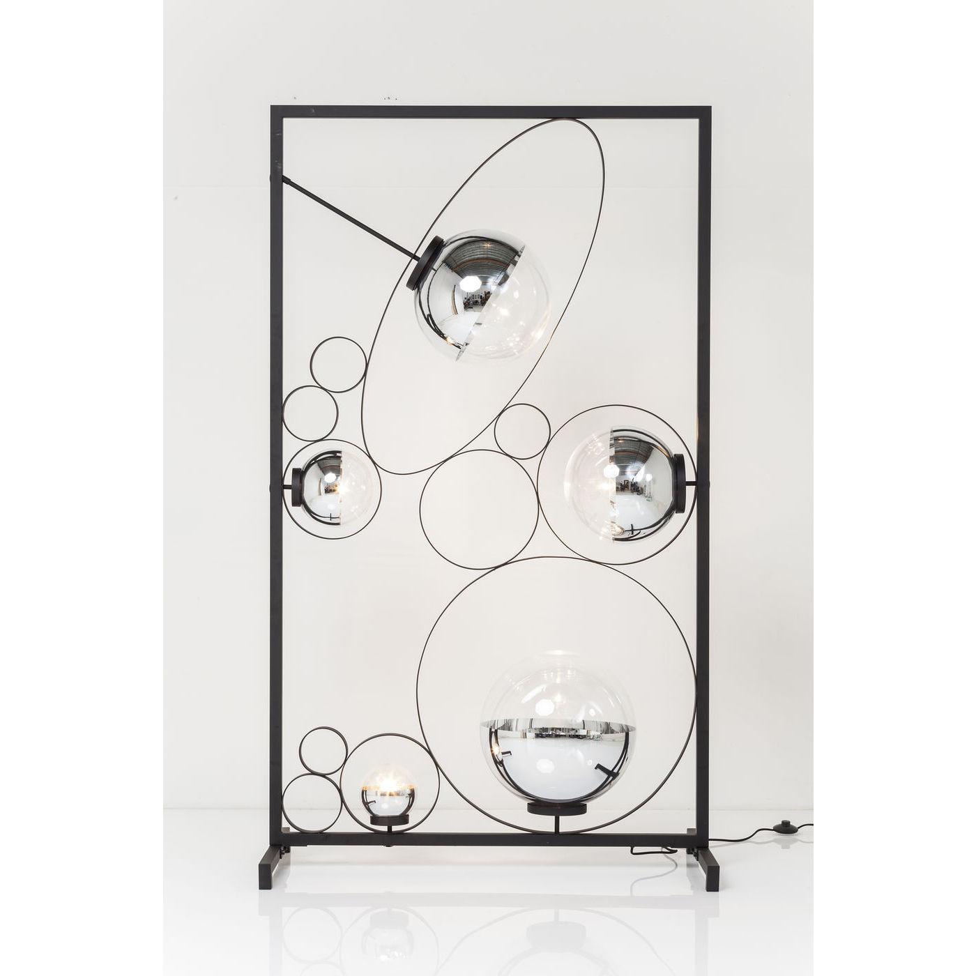 KARE DESIGN Balloon Clear Square LED gulvlampe - slv/klar akryl og stl