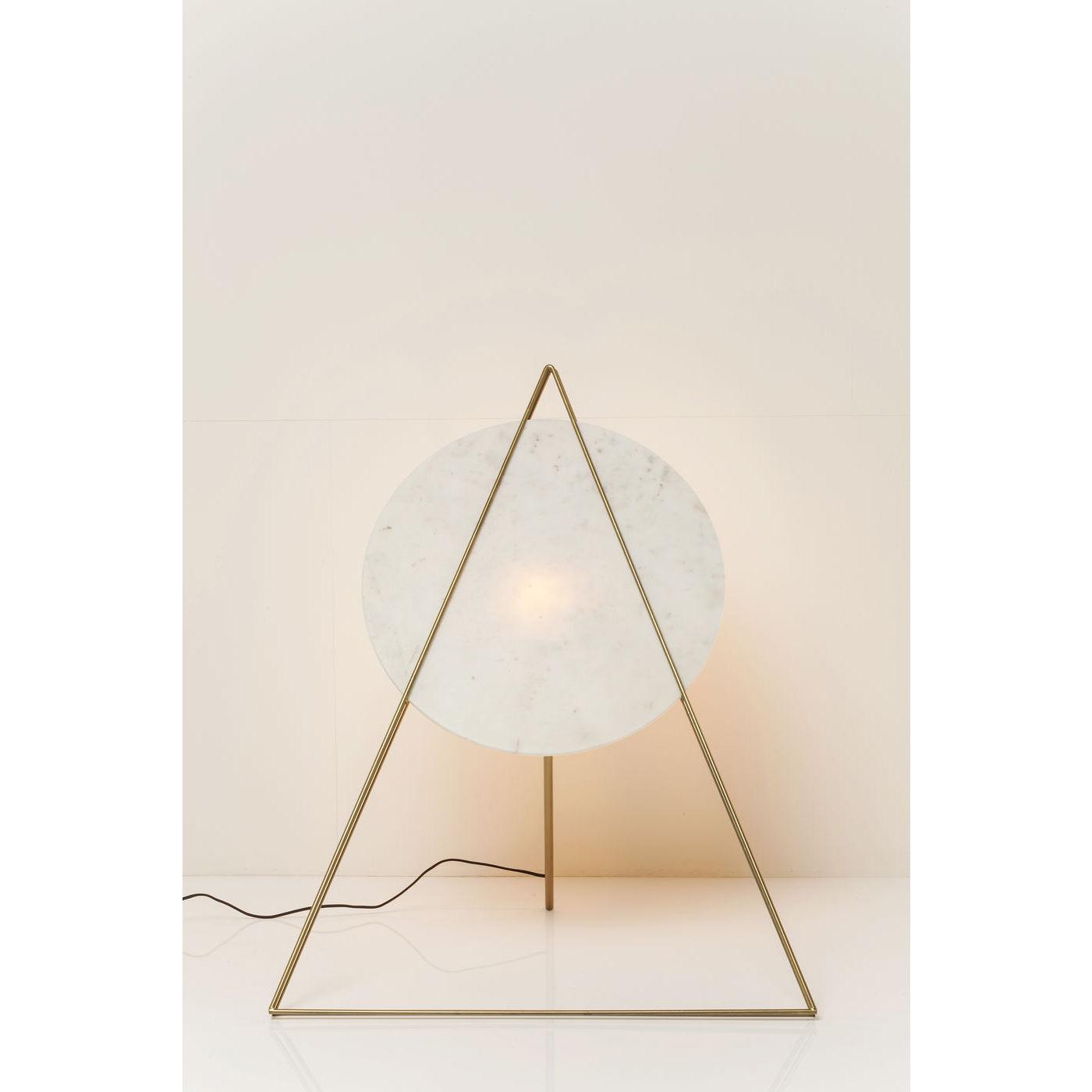 KARE DESIGN Triangle Marble White gulvlampe - hvid marmor/guld stl