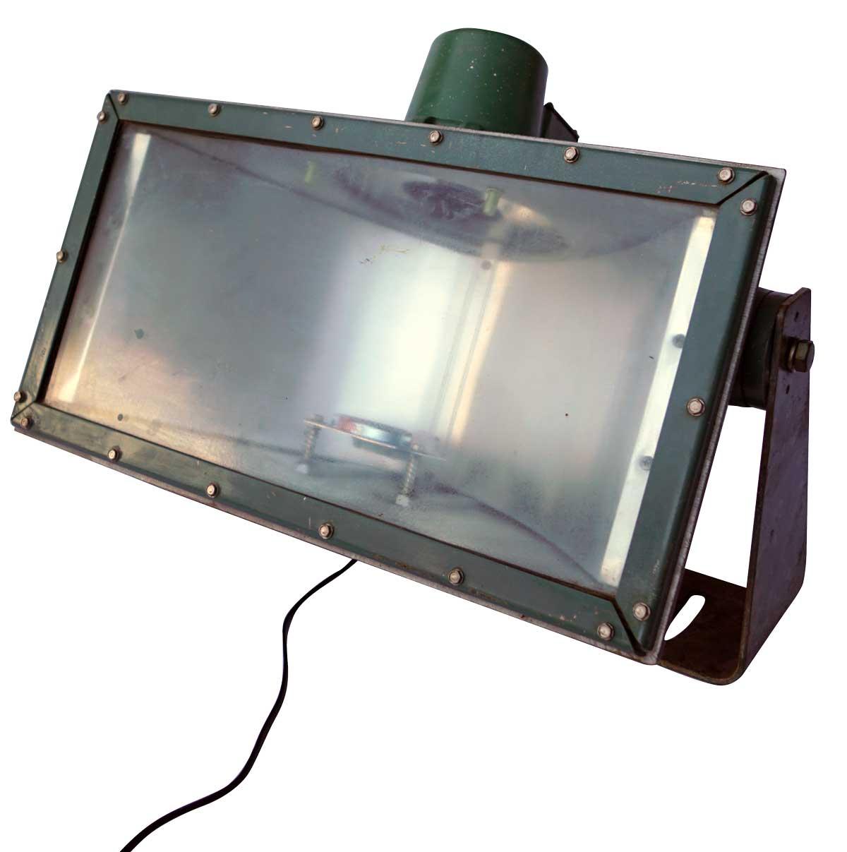 TRADEMARK LIVING industrilampe - grn jern og glas, gammel industrilampe