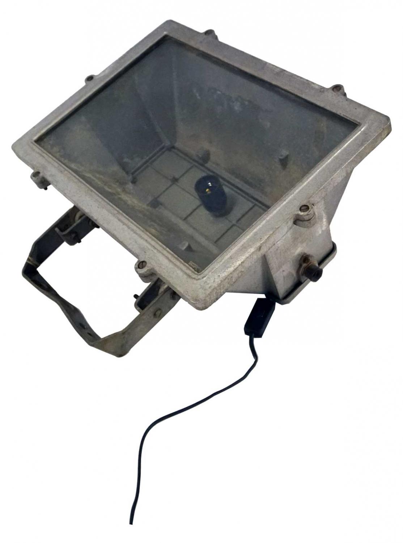 TRADEMARK LIVING industrilampe - jern og glas, gammel industrilampe