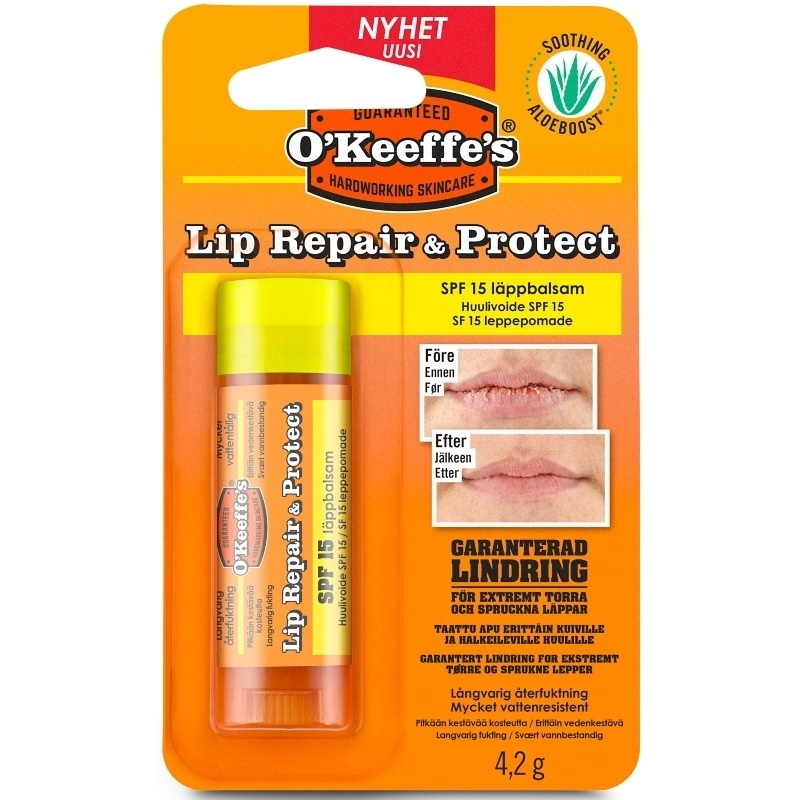O'Keeffes Lip Repair & Protect SPF 15 - 4,2 gr.