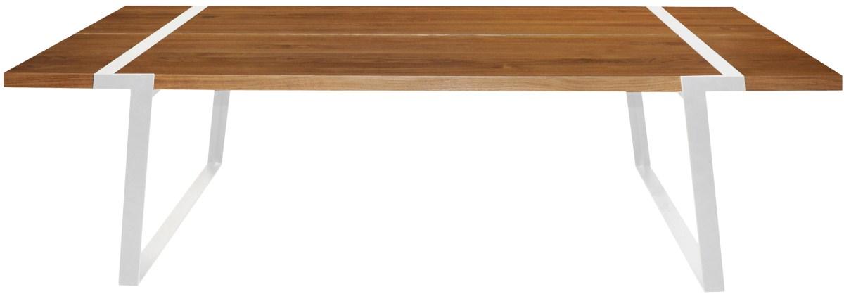 CANETT Gigant plankebord - massiv olieret egetr og hvidt jern (240x100)