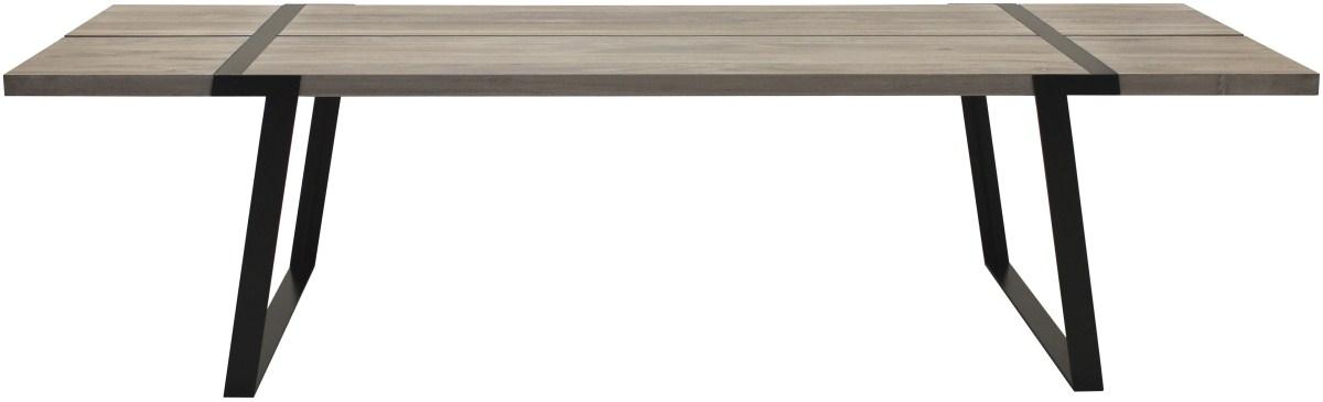 CANETT Gigant plankebord - massiv hvidolieret egetr og sort jern (290x100)