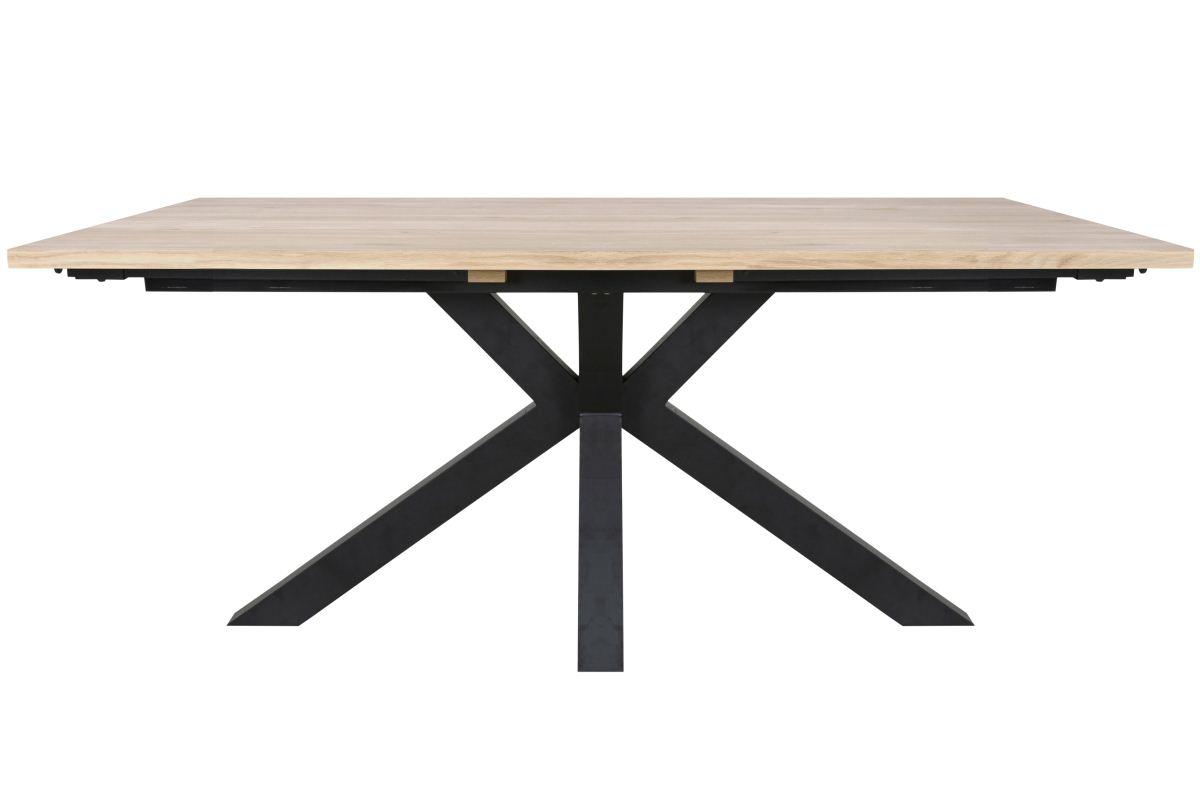 CANETT Maison plankebord - hvidolieret fineret vildeg og sort metal (180x100)