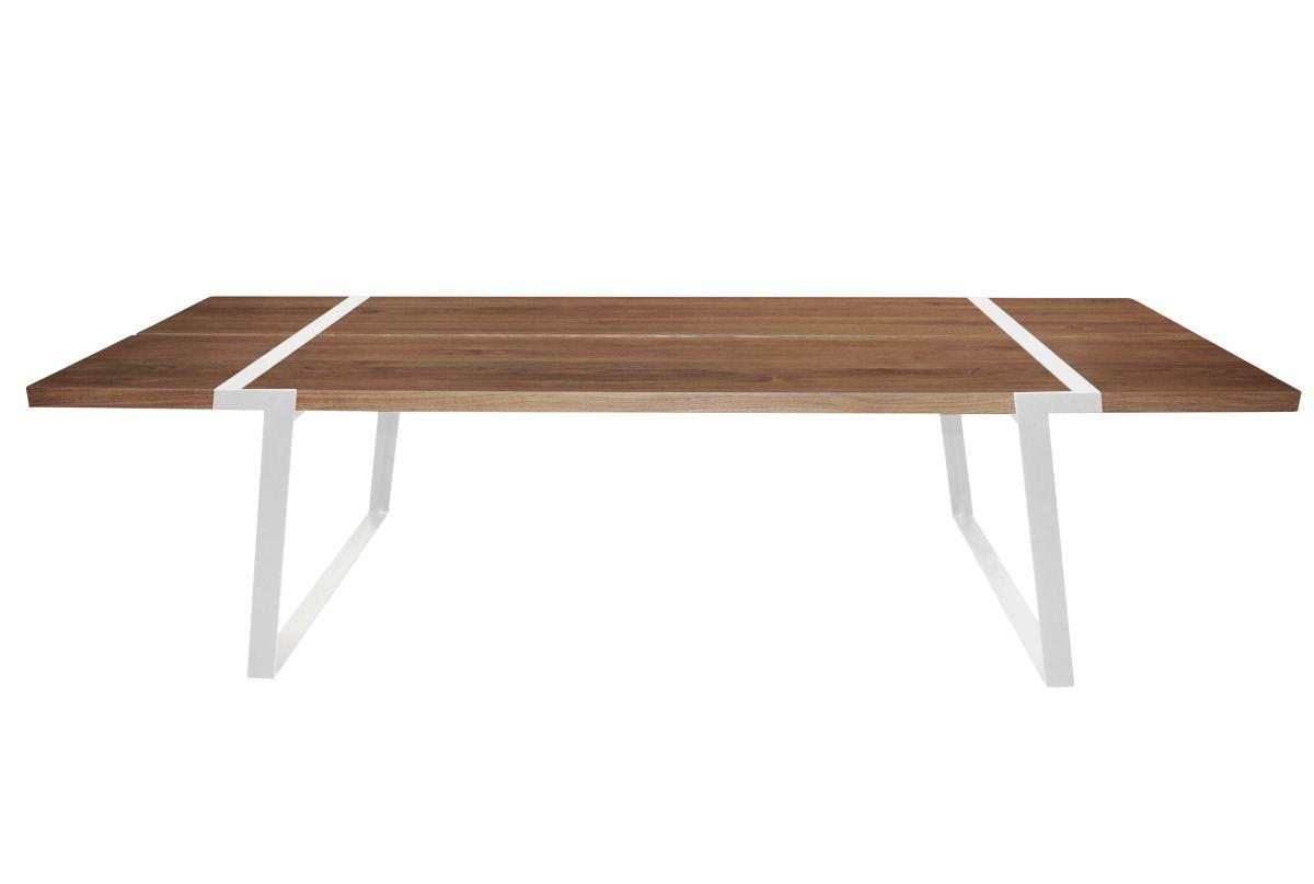 CANETT Gigant plankebord - massiv olieret egetr og hvidt jern (290x100)