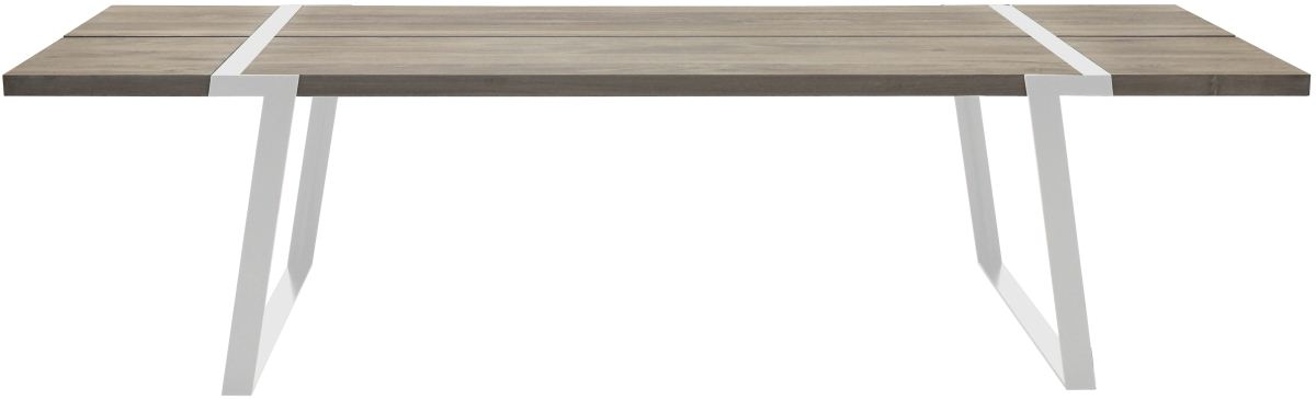CANETT Gigant plankebord - massivt hvidolieret egetr og hvidt jern (290x100)