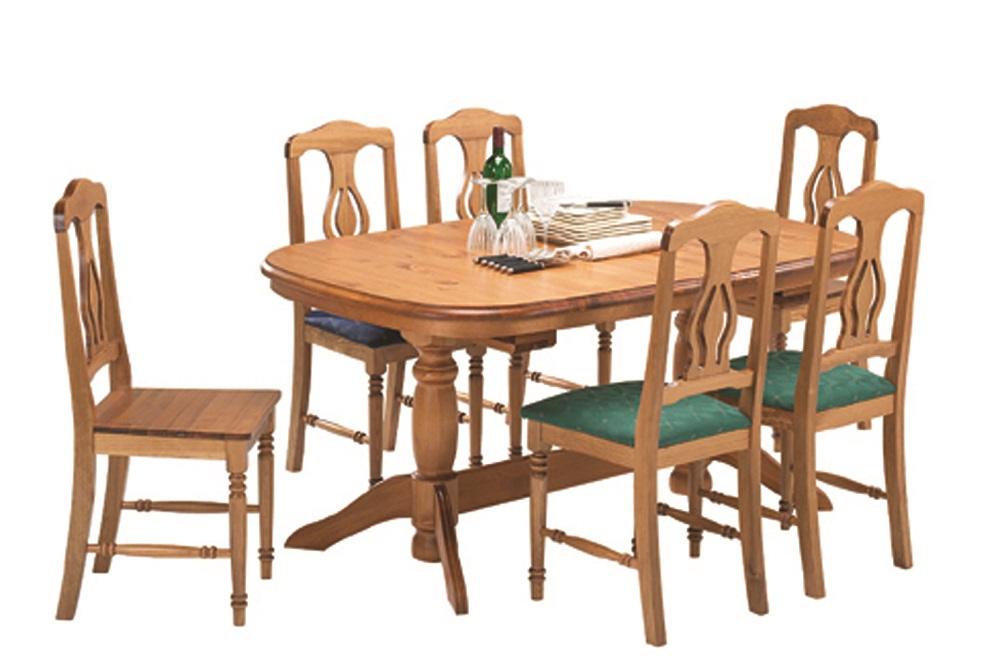 Malm spisebord med udtrk