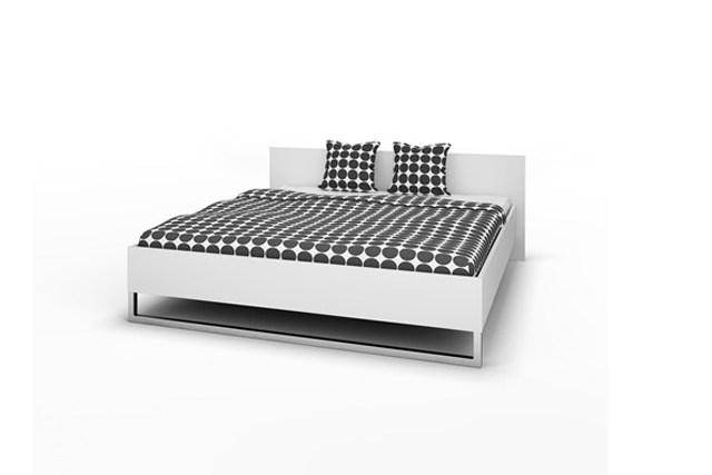 Style sengeramme - hvidt tr, 180 x 200, komplet