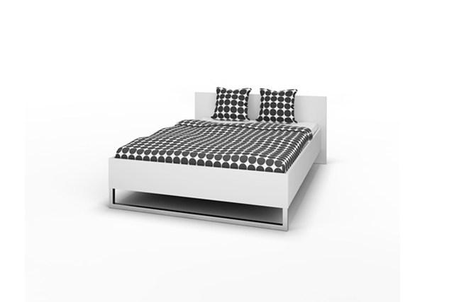 Style sengeramme - hvidt tr, 140 x 200, komplet