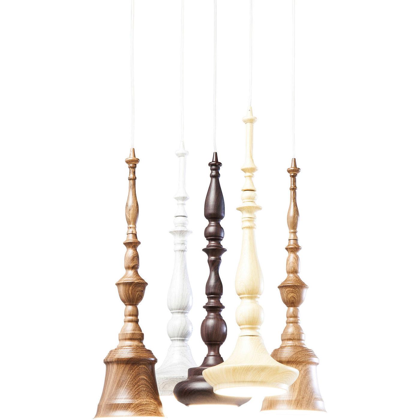 KARE DESIGN Tornito Spiral 5 loftlampe - brunt/hvidt stl