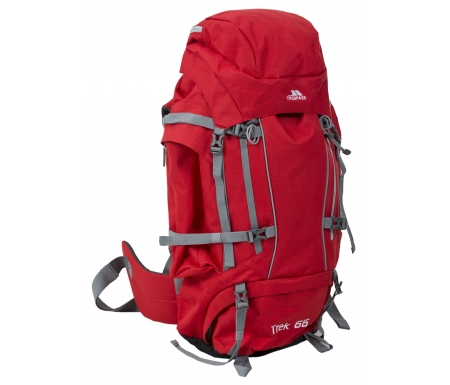 Trespass Trek 66 - Vandrerygsæk - 66 liter - Rød