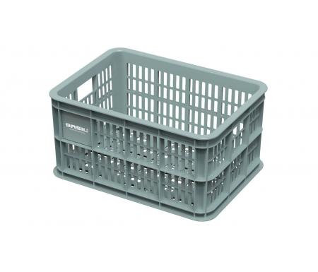 Basil Crate S - Plast kurv - Til opbevaring eller bagagebærer - Seagrass