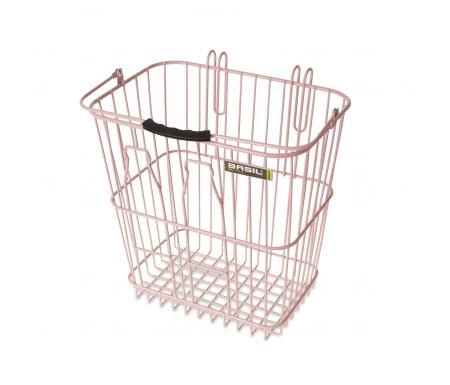 Basil Memories Bottle Basket - Cykelkurv - Soft pink