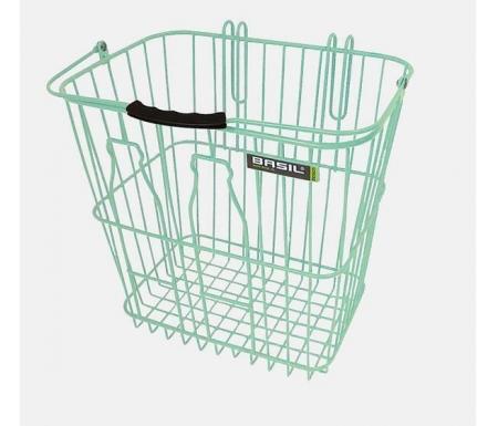Basil Memories Bottle Basket - Cykelkurv - Pastel grøn