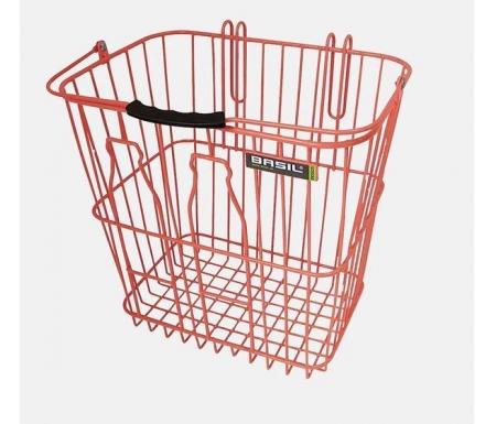 Basil Memories Bottle Basket - Cykelkurv - Salmon orange