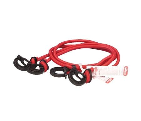 Jumbo regulerbar bagagestrop - 100cm - 2stk - Rød
