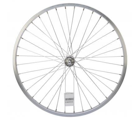 """Contec 24"""" forhjul - Aluminiumsfælg - 19-507 - 2 mm eger - Sølv"""