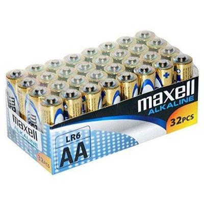 Maxell Aa Alkaline Batterier Mxblr06P32 Lr6 Aa 1.5V - 32 Stk