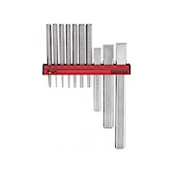 Dorn og mejselsæt med vægstativ Teng Tools WRPC10