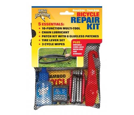 Finish Line - Reparationskit - Værktøj, olie, dækjern, lappesæt og klude