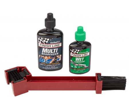 Børste kit Finish Line Grunge Brush med degreaser og olie
