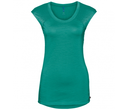 Odlo - Natural + Ceramiwool light Suw Top - Løbe t-shirt - Dame - Grøn