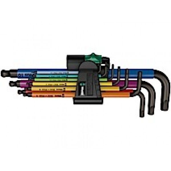 Unbrakonøgler i sæt Wera 950 SPKL/9 SM N - Multicolor