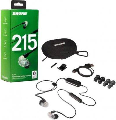 Shure Se215-Bt1 Lydisolerende Trådløs In-Ear Bluetooth Høretelefoner - Klar