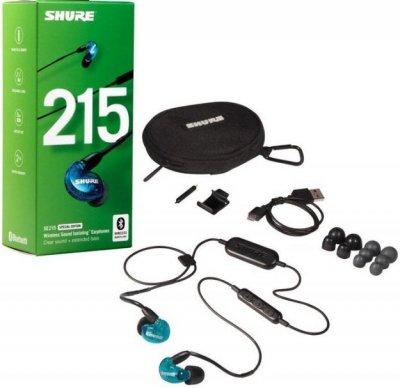 Shure Se215-Bt1 Special Edition - Lydisolerende Trådløs In-Ear Høretelefoner - Blå