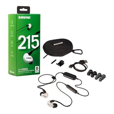 Shure Se215-Bt1 Lydisolerende Trådløs In-Ear Bluetooth Høretelefoner - Hvid