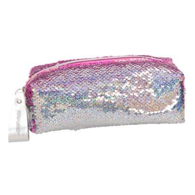 Top Model - Penalhus Med Pailletter - Pink Sølv
