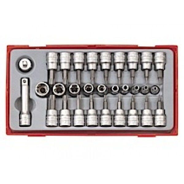 """TTTX30 Teng Tools TX-toppe i sæt med ¼"""" og 3/8"""" □-tilslutningsfæste"""