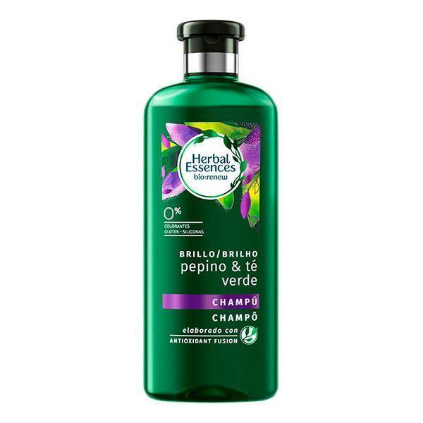 Forfriskende Shampoo Bio Brillo Pepino & Té Verde Herbal (400 ml)