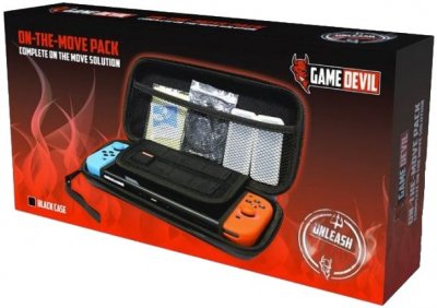 Gamedevil On The Move Pack - Etui Til Nintendo Switch I Sort