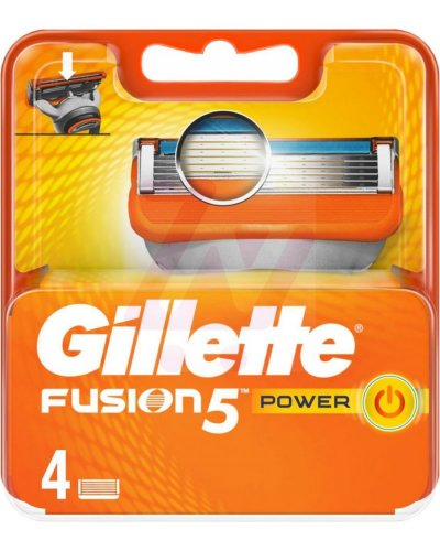 Gillette Fusion Power Barberblade - 4 Stk