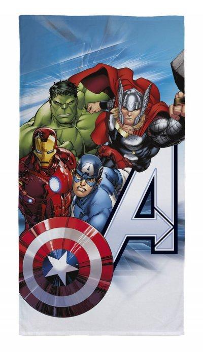 Avengers - Håndklæde - 70X140 Cm - Blå