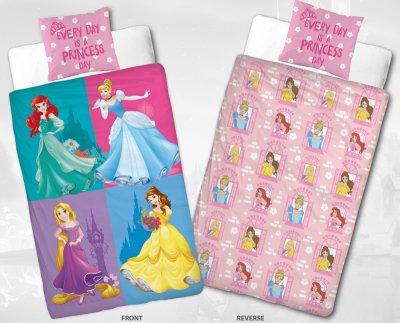 Disney Princess - Sengetøj - 140X200 Cm - Pink