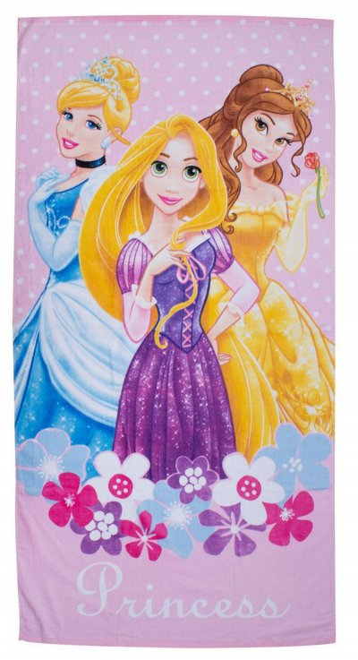 Disney Prinsesser - Håndklæde - 70X140 Cm - Pink